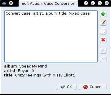Edit Case Conversion action