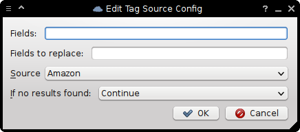 Masstagging Tag Source Configuration dialog.